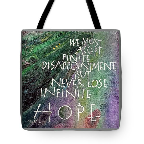 Inspirational Saying Hope Tote Bag
