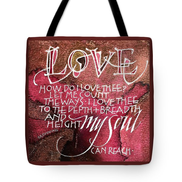 Inspirational Saying Love Tote Bag