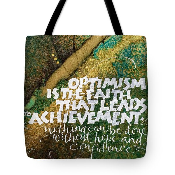 Inspirational Saying Optimism Tote Bag