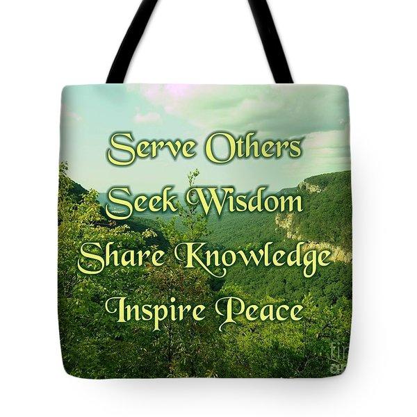 Inspire Peace Tote Bag