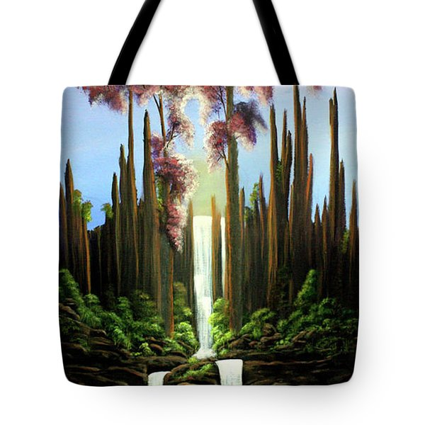 Inspireation Falls Tote Bag