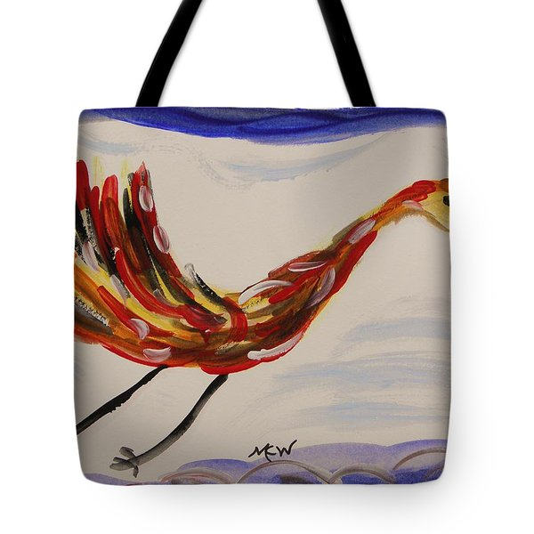 Inspired By Calder's Only Only Bird Tote Bag by Mary Carol Williams