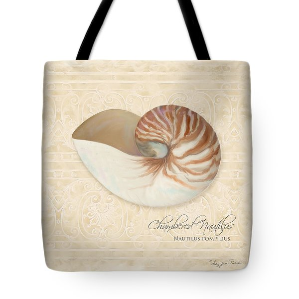 Inspired Coast Iv - Chambered Nautilus, Nautilus Pompilius Tote Bag by Audrey Jeanne Roberts