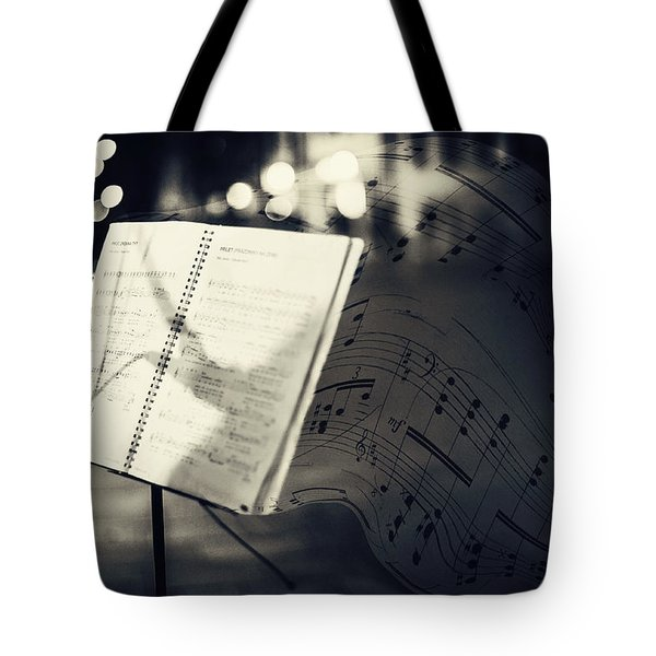 Inspiring Music Of The Night Streets Tote Bag