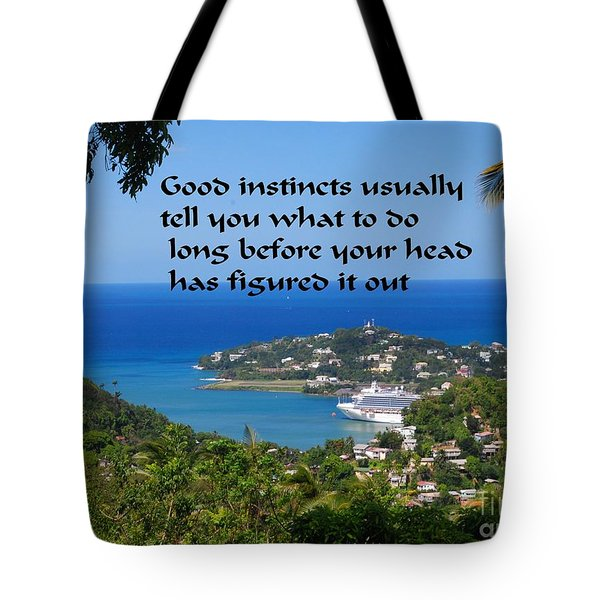 Tote Bag featuring the photograph Instincts by Gary Wonning