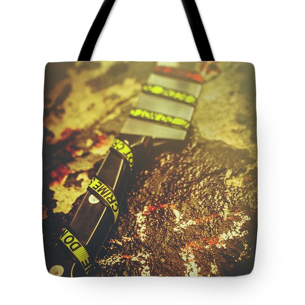 Instrument Of Crime Tote Bag