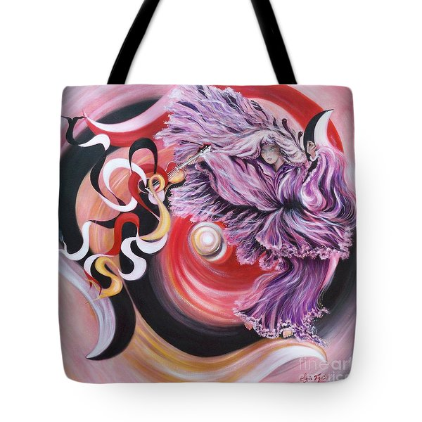 Tote Bag featuring the painting Integrated Force by Sigrid Tune