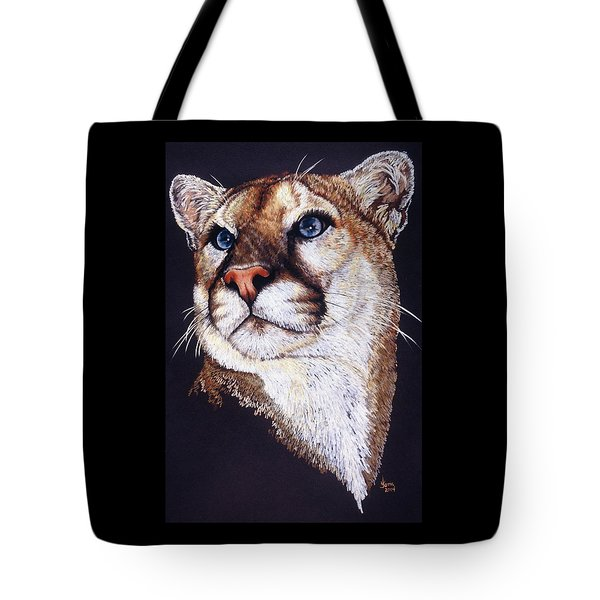 Tote Bag featuring the drawing Intense by Barbara Keith