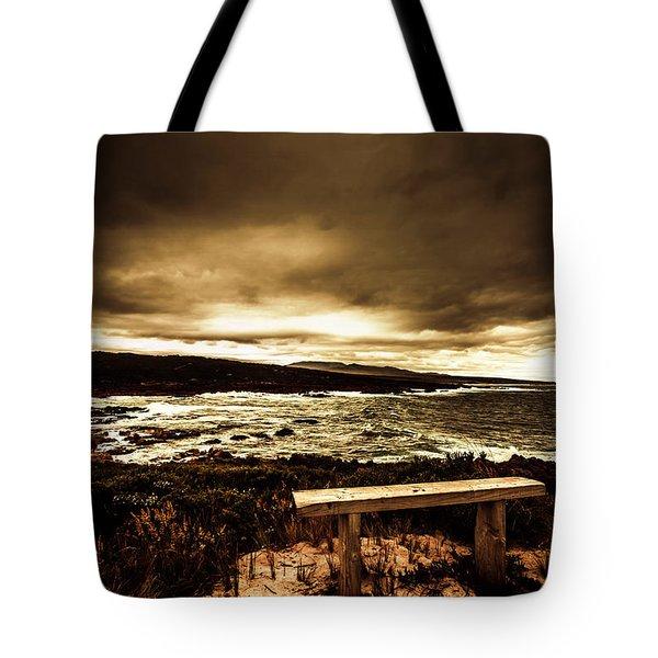 Intense Coastline Drama Tote Bag
