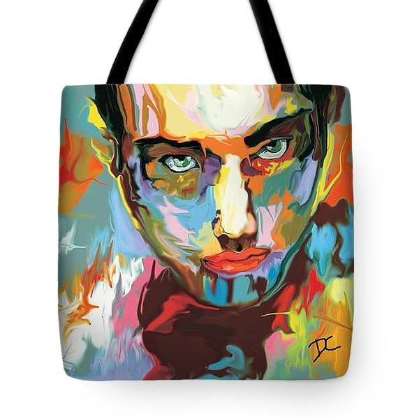 Tote Bag featuring the digital art Intense Face 2 by Darren Cannell