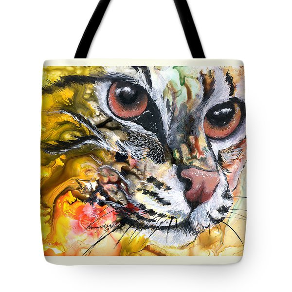 Tote Bag featuring the painting Intensity by Sherry Shipley