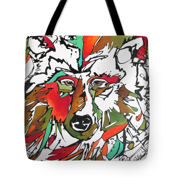 Tote Bag featuring the painting Intent by Nicole Gaitan