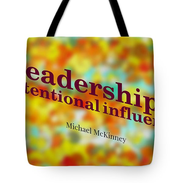 Intentional Influence Tote Bag