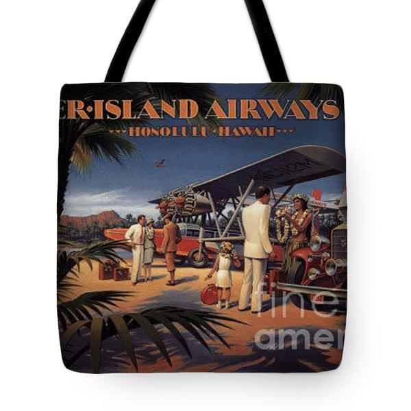 Inter Island Airways-honolulu Hawaii Tote Bag