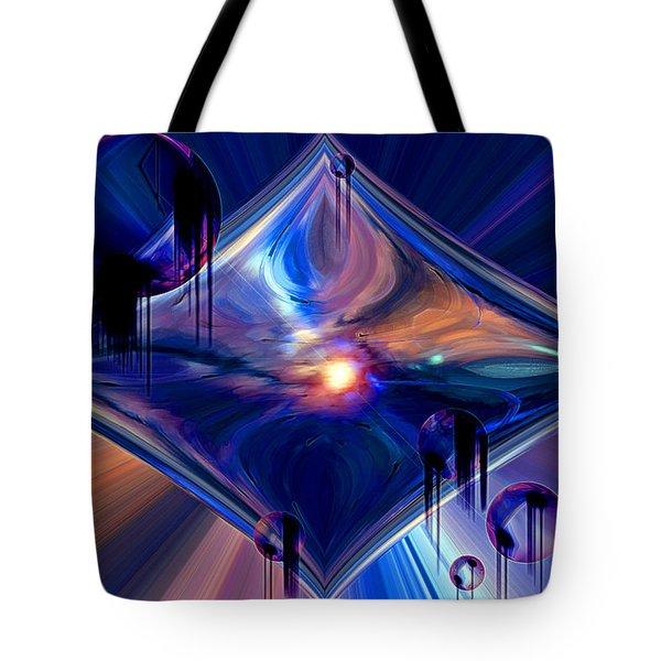 Tote Bag featuring the digital art Interdimensional Portal by Linda Sannuti