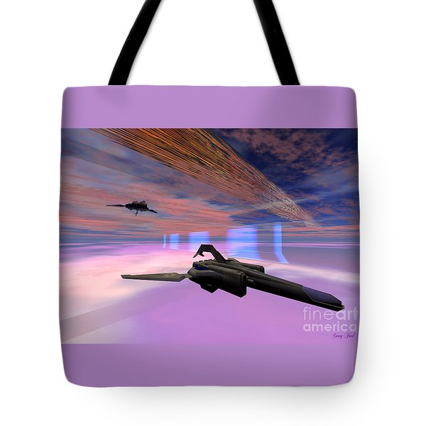 Interfold Layer Tote Bag by Corey Ford