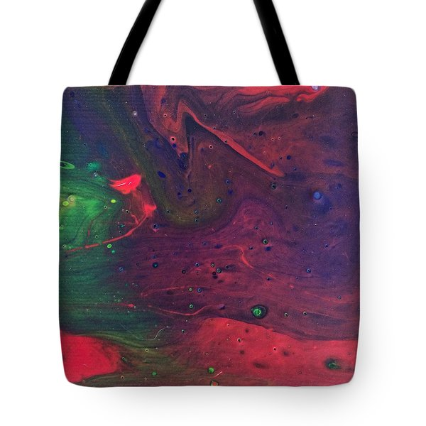 Tote Bag featuring the painting Intergalactic  by Robbie Masso