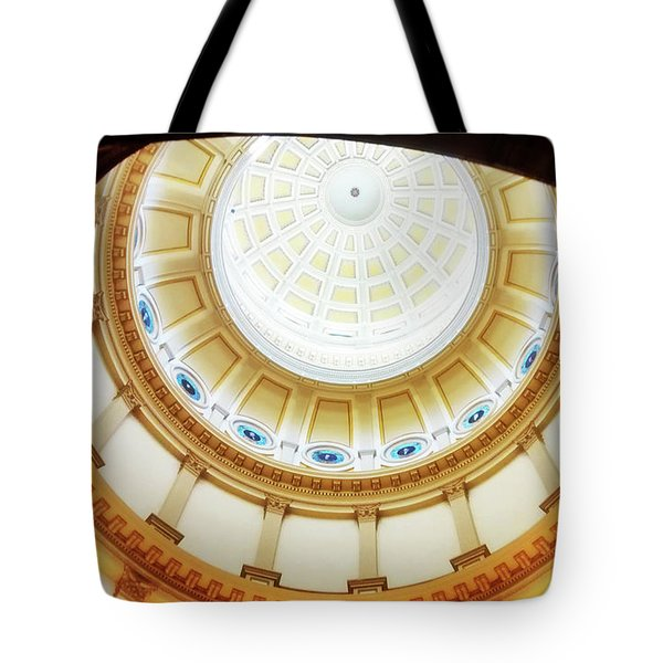 Tote Bag featuring the photograph Interior Denver Capitol by Marilyn Hunt
