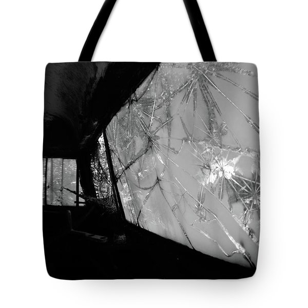 Interior In Gray Tote Bag