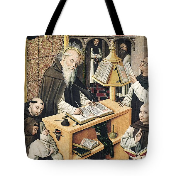 Interior Of A Scriptorium Tote Bag