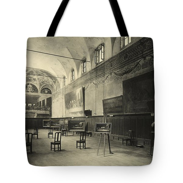 Interior Of The Dining Hall Of The Church Of Santa Maria Delle Grazie Milan Tote Bag by Alinari