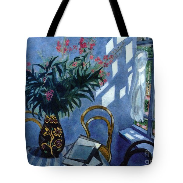Interior With Flowers Tote Bag