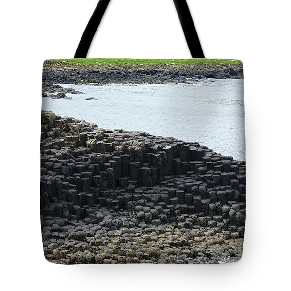 Interlocking Basalt Columns Tote Bag