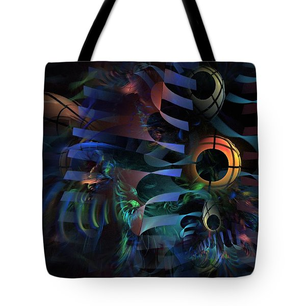 Tote Bag featuring the digital art Interlude 1536 - Fractal Art by NirvanaBlues