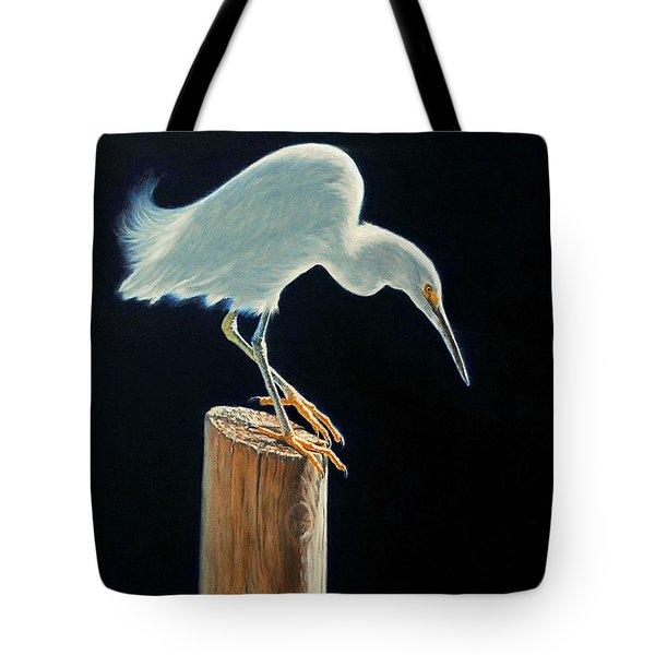 Interlude - Snowy Egret Tote Bag