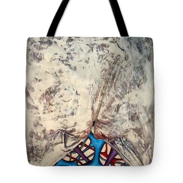 Internally Unzipped Tote Bag by Nancy Mueller