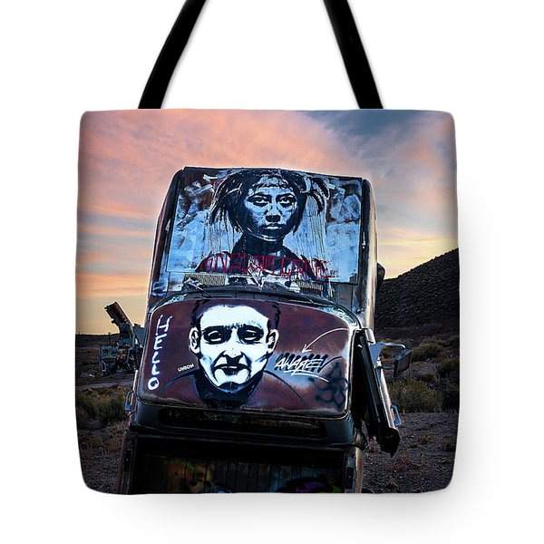Tote Bag featuring the photograph International Car Forest Of The Last Church 1 by James Sage