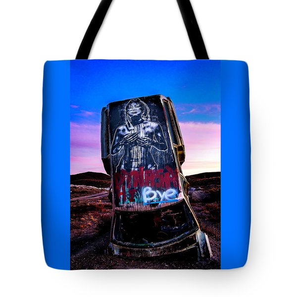 Tote Bag featuring the photograph International Car Forest Of The Last Church 4 by James Sage