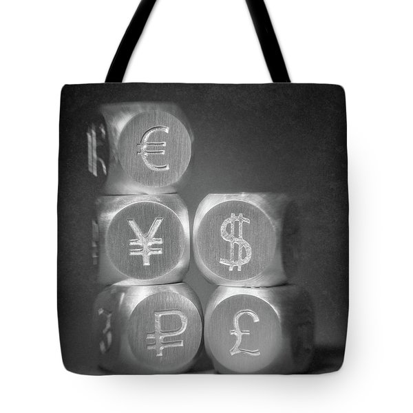 International Currency Symbols Tote Bag