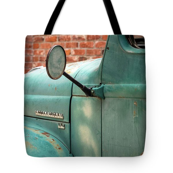Tote Bag featuring the photograph International Truck Side View by Heidi Hermes
