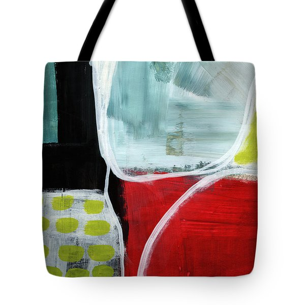 Intersection 37- Abstract Art Tote Bag by Linda Woods