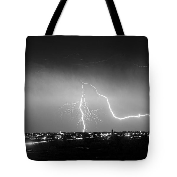 Intersection Black And White Tote Bag by James BO  Insogna