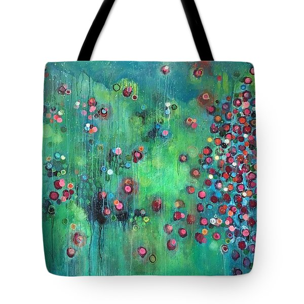 Tote Bag featuring the painting Interstellar, I Want To Paint It Black by Laurie Maves ART