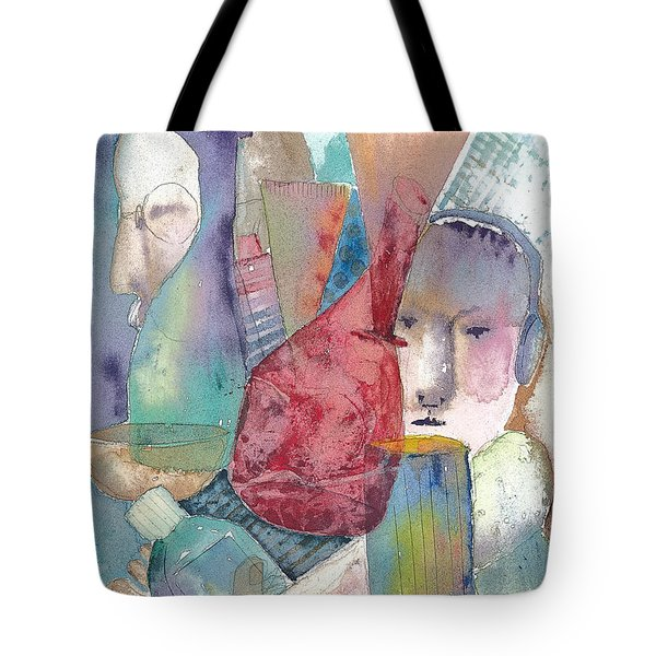 Intervention In Abstract Tote Bag by Arline Wagner