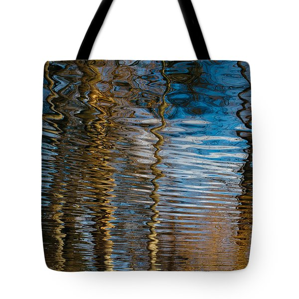 Tote Bag featuring the photograph Into Chaos Blue by Tom Vaughan