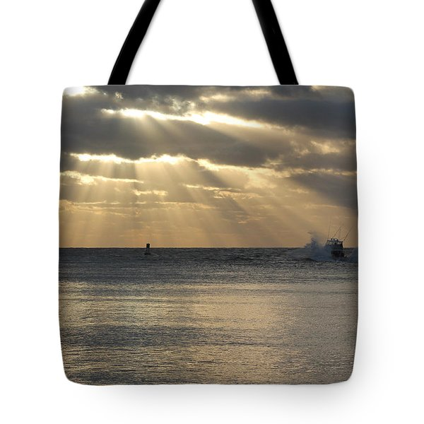 Into Dawn's Early Rays Tote Bag