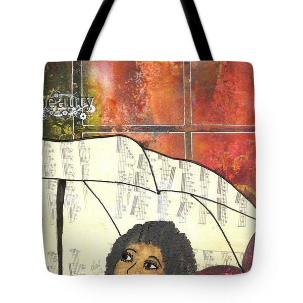 Into Every Life Some Rain Must Fall... Sing Anyway Tote Bag
