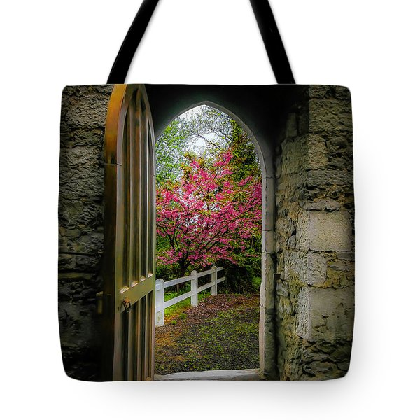 Tote Bag featuring the photograph Into Irish Spring by James Truett