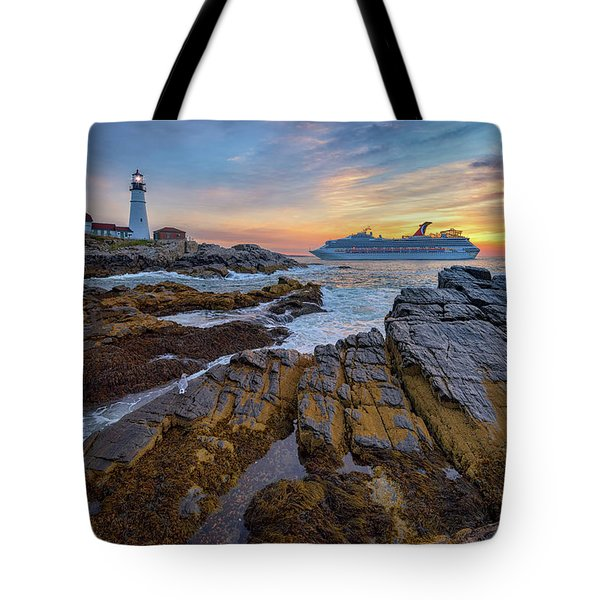 Into Portland Harbor Tote Bag