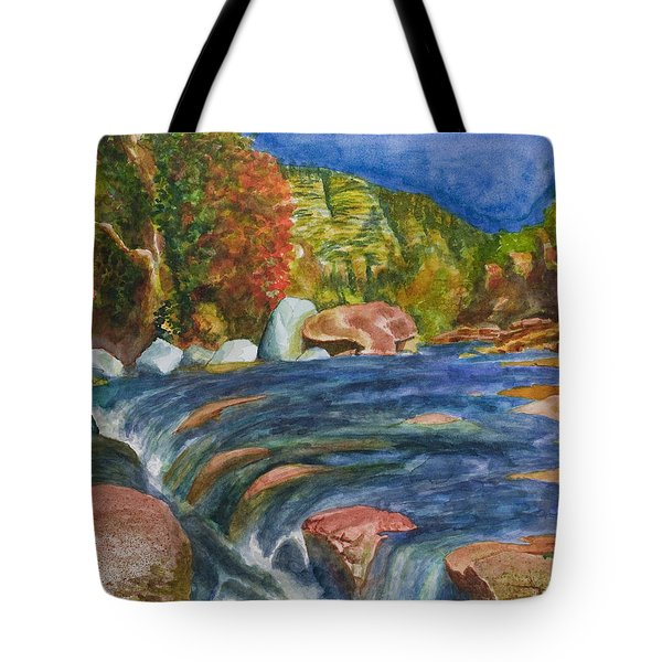 Into Slide Rock Tote Bag