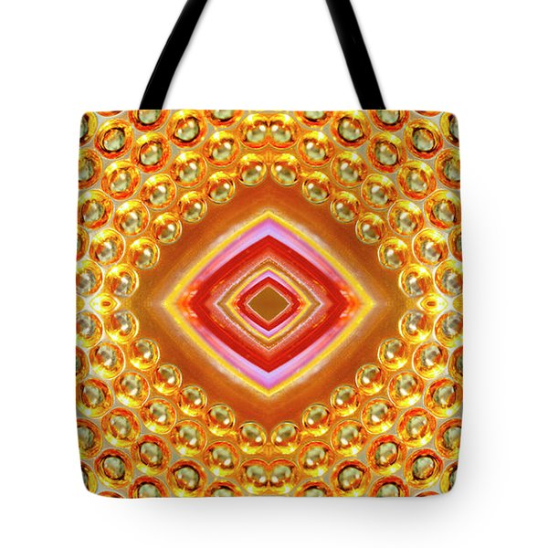 Tote Bag featuring the digital art Into The Centre - Horizontal by Wendy Wilton