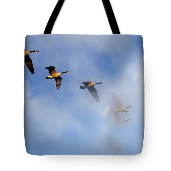 Tote Bag featuring the photograph Into The Clouds by Jackson Pearson