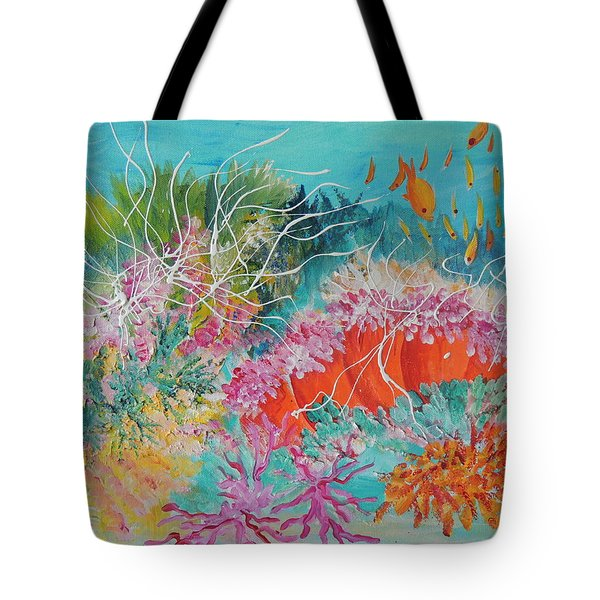 Tote Bag featuring the painting Feeding Time # 3 by Lyn Olsen