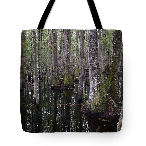 Into The Cypress Swamp Tote Bag