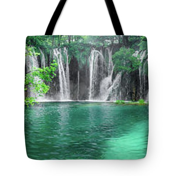 Into The Waterfalls - Plitvice Lakes National Park Croatia Tote Bag