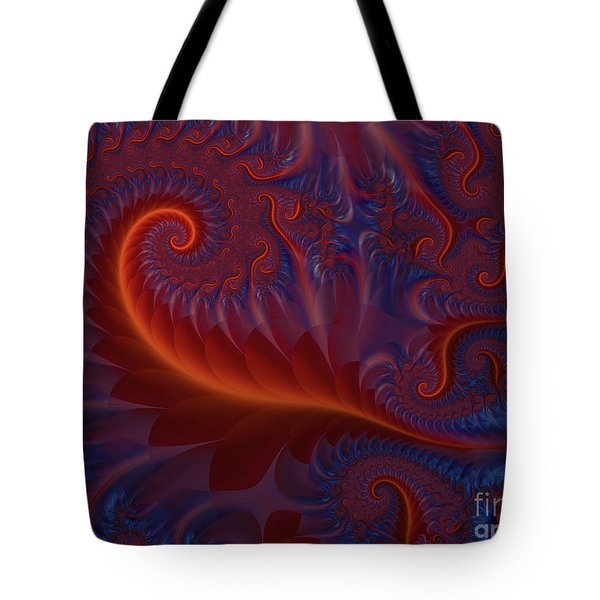Into The Flames Tote Bag